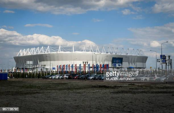 A photo taken on May 12 2018 shows Rostov Arena in the southern Russian city of RostovonDon The stadium will host five football matches of the 2018...