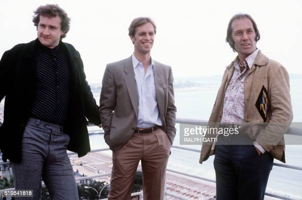 A photo taken on May 15 1980 shows American actors David Carradine his brother Keith and Randy Quaid during the Cannes Festival David Carradine is...
