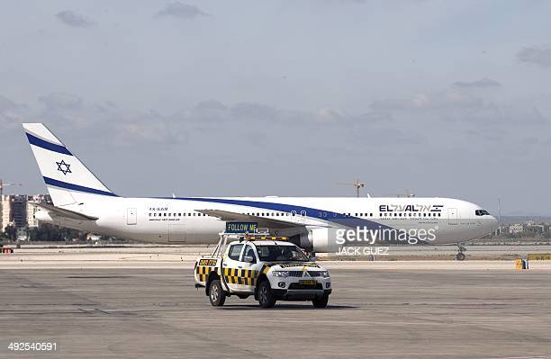A photo taken on May 19 2014 shows an ElAl airways Boeing 700300 ER on the runway at Israel's Ben Gurion International Airport AFP PHOTO / JACK GUEZ