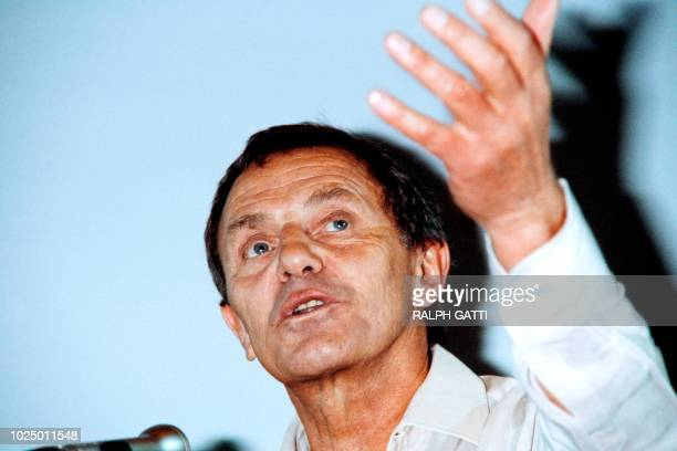 Photo taken on May 1980 during the Cannes Film Festival southern France showing German actor Heinz Bennent during a press conference Bennent died on...