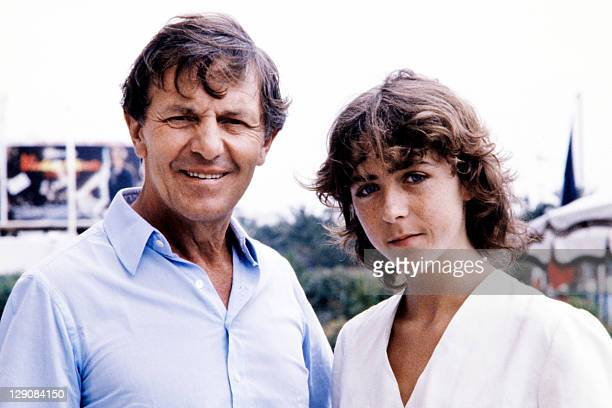 Photo taken on May 1981 during the Cannes Film Festival southern France showing German actor Heinz Bennent and his daughter Ann Bennet Bennent died...