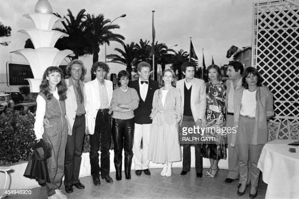 Photo taken on May 26 1981 shows the cast of French Film Les Uns et les Autres during a photocall at the 34th edition of the Cannes Film Festival in...
