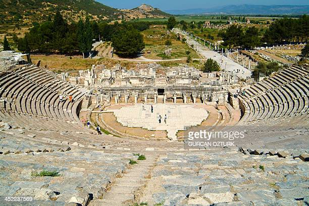 A photo taken on May 3 2010 shows Ephesus an ancient Greek city built on site of the former Arzawan capital and later a major Roman city on the...