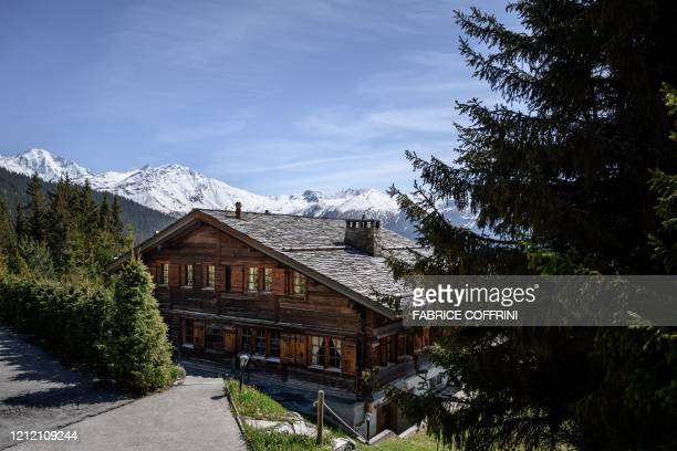 Photo taken on May 7, 2020 shows the wooden chalet Helora, owned since 2014 by Britain's Prince Andrew, Duke of York and his ex-wife Sarah Ferguson...