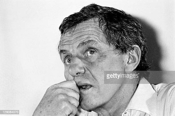 Photo taken on May 8 1983 during the Cannes Film Festival southern France showing German actor Heinz Bennent during a press conference to present the...
