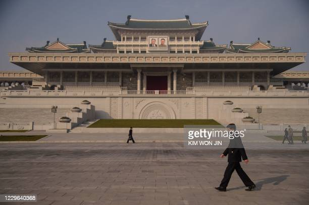 Photo taken on November 15, 2020 shows a general view of Kim Il Sung Square in Pyongyang.