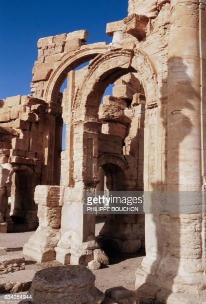 Photo taken on November 27, 1984 shows the ancient city of Palmyra. The site of Palmyra is selected as a UNESCO World Heritage Site since 1980 and...