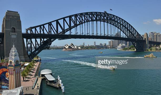 Photo taken on November 30 2015 shows a view of Sydney Harbour Bridge in Sydney Slumping commodity prices and lower tax receipts will see Australia's...