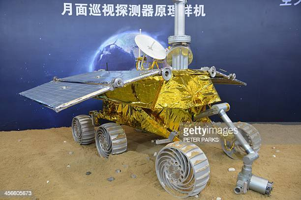 Photo taken on November 5 2013 shows a model of a lunar rover known as The Yutu or Jade Rabbit on display at the China International Industry Fair...