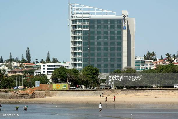Photo taken on Novermber 29, 2012 shows the Radisson Hotel on the Maputo seafront. The gleaming 12-storey steel and glass edifice is a familiar...