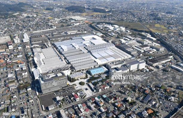 Photo taken on Oct 27 from a Kyodo News helicopter shows a Subaru Corp plant in Ota Gunma Prefecture north of Tokyo A company executive said the same...