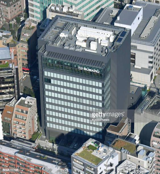 Photo taken on Oct 27 from a Kyodo News helicopter shows Subaru Corp's headquarters in Tokyo A company executive said the same day Subaru used...