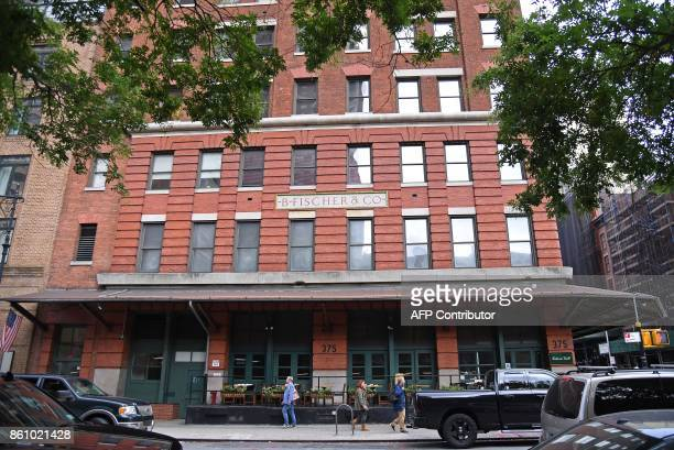Photo taken on October 13, 2017 shows a view of The Weinstein Company headquarters in Tribeca, New York City. The Weinstein Company is exploring a...