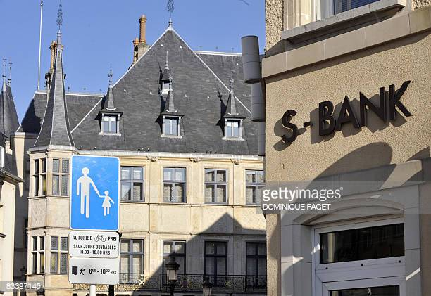 Photo taken on October 23, 2008 shows an S-Bank branch near the Grand-Ducal Palais in central Luxembourg. Luxembourg, under the spotlight over its...