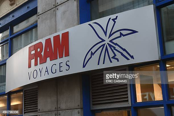 Photo taken on October 29, 2015 in Toulouse shows a storefront of French tour operators FRAM which convened an extraordinary works council with a...