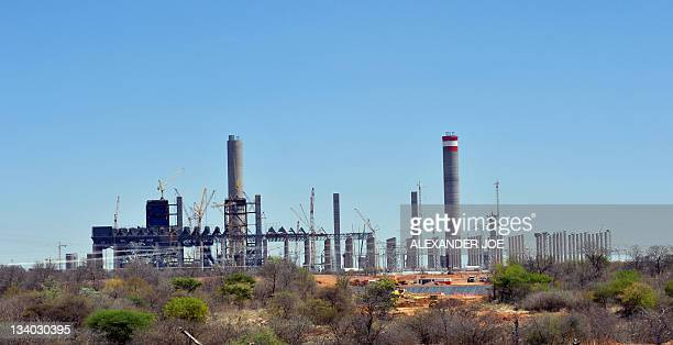 A photo taken on October 7 2011 shows the 125billionrand Medupi station outside the northern South African town of Lephalale The plant will be the...