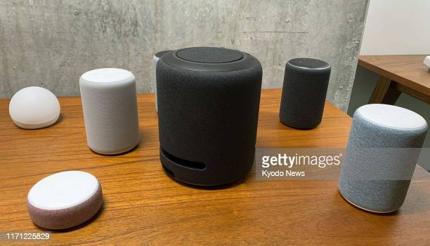 Photo taken on Sept 25 2019 in Seattle shows speakers of Amazoncom Inc's Echo series equipped with the Alexa voice assistant artificial intelligence...