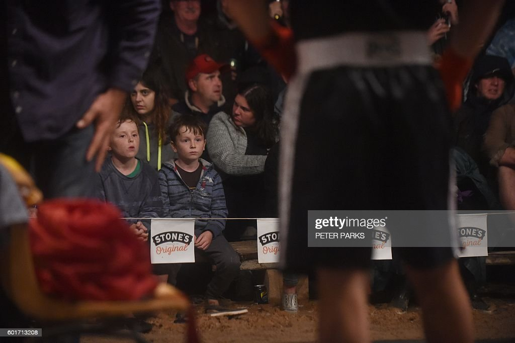 Photo taken on September 1 2016 shows children watching the boxing in the Fred Brophy boxing  sc 1 st  Getty Images & Tent Boxing Stock Photos and Pictures | Getty Images