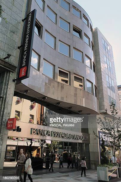 A photo taken on September 10 2013 shows the building of the Banca Privada d'Andorra in the city of AndorralaVielle principality of Andorra AFP PHOTO...