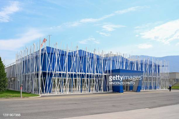 Photo taken on September 11, 2020 shows the Italian biologics manufacturing facility of multinational corporation Catalent in Anagni, southeast of...
