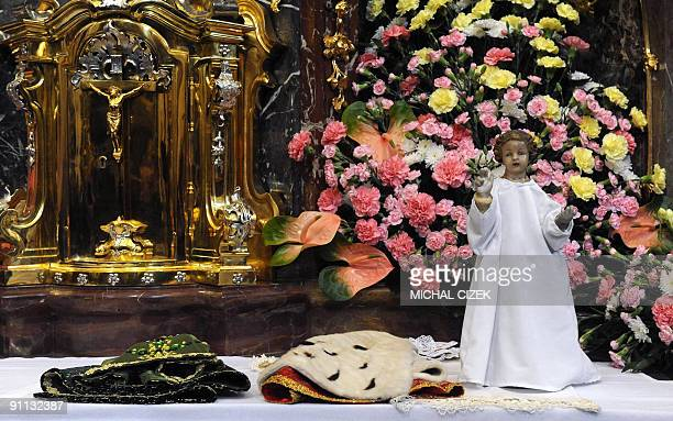 Photo taken on September 25 2009 shows the Infant Jesus of Prague during the changing of his dress in The Church of Our Lady Victorious in Prague...
