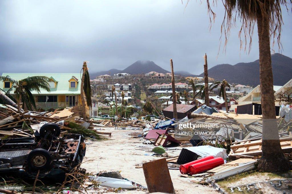 DOUNIAMAG-FRANCE-OVERSEAS-CARIBBEAN-WEATHER-HURRICANE : News Photo