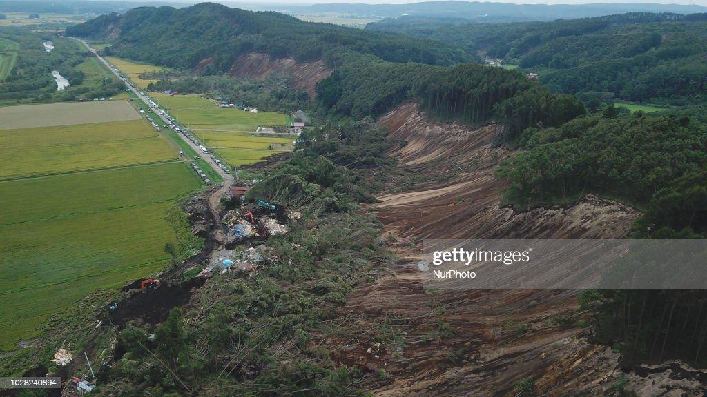 Magnitude 6.7 Strong Earthquake Hits Hokkaido : ニュース写真