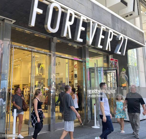 Photo taken Sept. 15 shows a Forever 21 Inc. Store in New York. The fashion retailer filed for bankruptcy protection on Sept. 29.