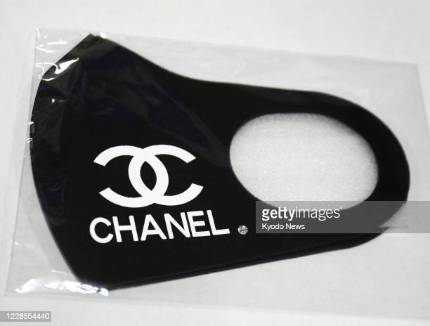Photo taken Sept 16 at a police station in Ichinomiya in Aichi Prefecture shows a fake Chanel mask it confiscated from a woman in the central Japan...