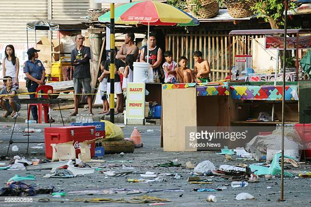Photo taken Sept 3 shows the southern Philippine city of Davao where an explosion in a packed night market the previous day killed 14 people and...