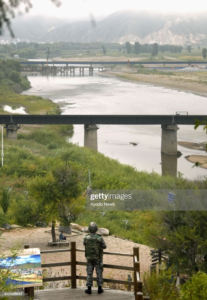 China-N. Korea border a day after Pyongyang's nuclear test : Fotografía de noticias
