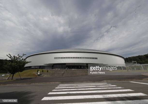 Photo taken Sept 6 shows Izu Velodrome a 2020 Summer Olympics and Paralympics venue for cycling in Izu Shizuoka Prefecture ==Kyodo