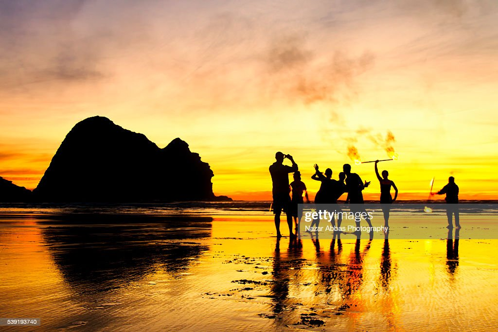 Photo taking at Piha beach : Stock Photo