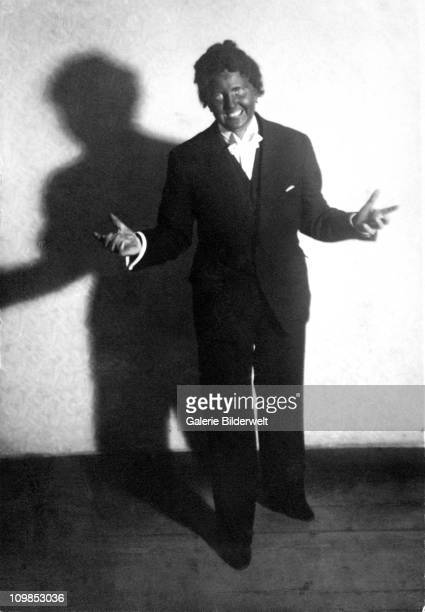 A photo titled 'Me As Al Jolson' from an album belonging to Hitler's companion Eva Braun depicting her in blackface as American actor Al Jolson in...