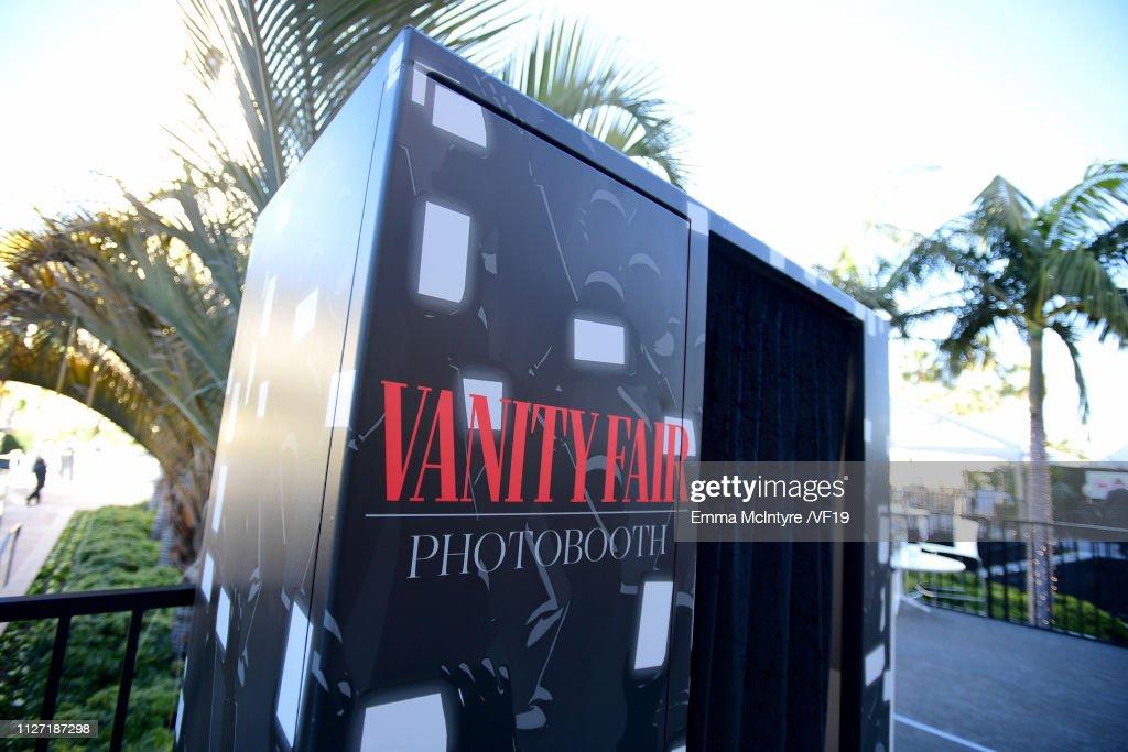 A photobooth is seen at the 2019 Vanity Fair Oscar Party