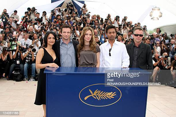 Photocall 'A Mighty Heart' at 60th Cannes International Festival in Cannes, France on May 21, 2007 - British actress Archie Panjabi, American actor...