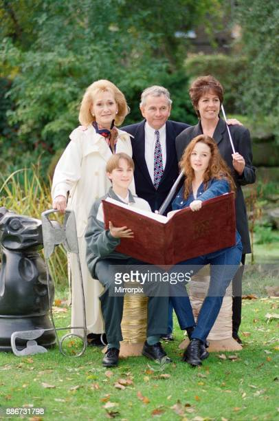 Photocall for BBC mini series 'The Borrowers' Pictured some of the cast back row left to right Sian Phillips Ian Holm Penelope Wilton seated Paul...