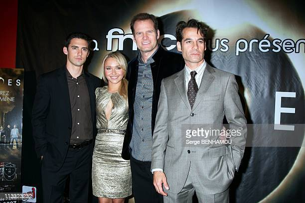 Photocall 'Heroes' At The Fnac Montparnasse In Paris France On August 28 2007 Milo Ventimiglia Hayden Panettiere Jack Coleman Adrian Pasdar