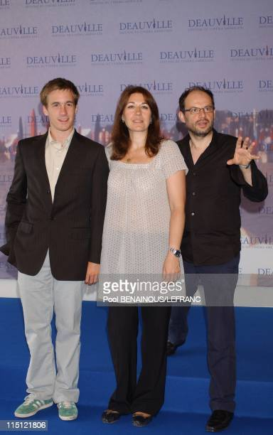 Photocall La vie d'artiste at the 33rd Deauville American Film festival in Deauville France on September 02 2007 Marc Fitoussi Gregoire Leprince...
