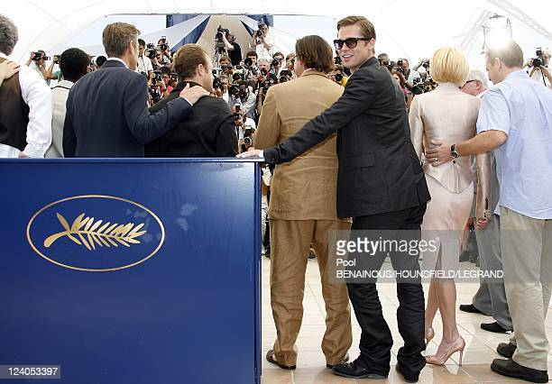 Photocall 'Ocean 13' at the 60th Cannes International Film Festival In Cannes France On May 24 2007 Brad Pitt Andy Garcia Eddie Jemison Don Cheadle...