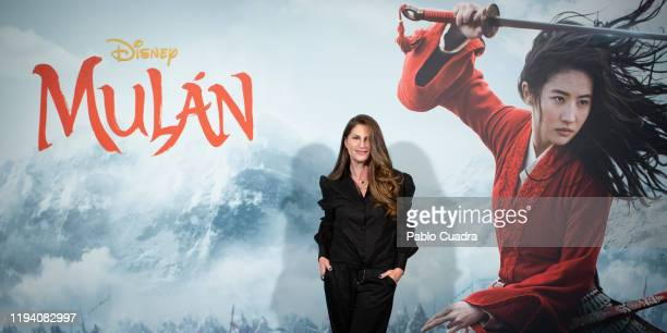 Photocall of Niki Caro director of 'Mulan' and of Bina Daigeler costume design director at Academia de las Artes Y las Ciencias on January 17 2020 in...