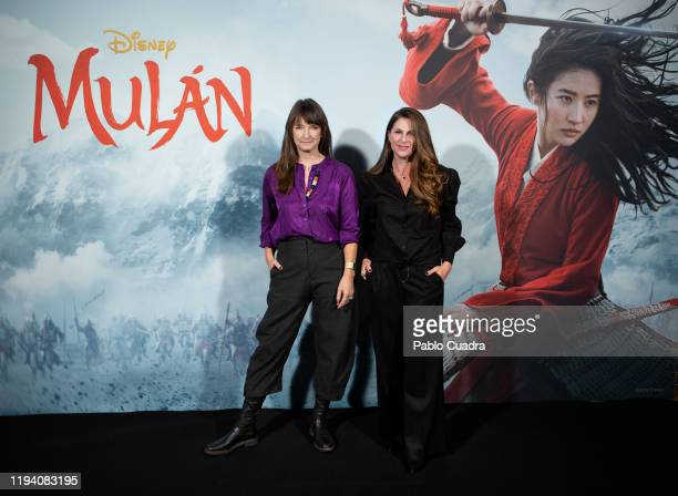 Photocall of Niki Caro , director of 'Mulan' and of Bina Daigeler , costume design director at Academia de las Artes Y las Ciencias on January 17,...