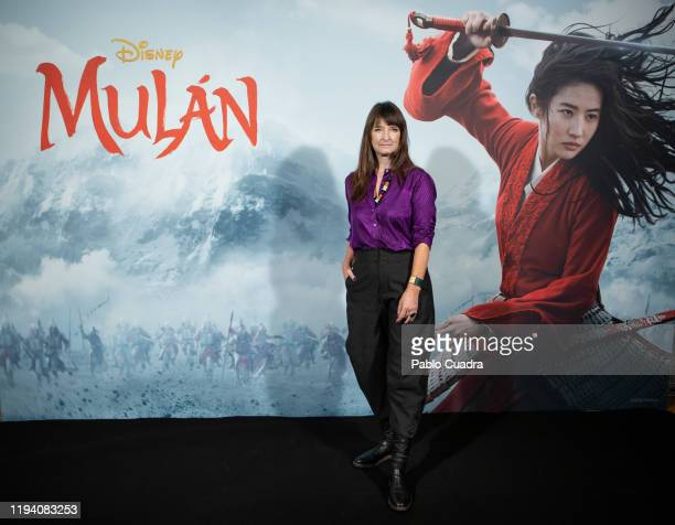 Photocall of Niki Caro director of 'Mulan' and of Bina Daigeler costume design director at Academia de las Artes Y las Ciencias on January 17 2020 in...