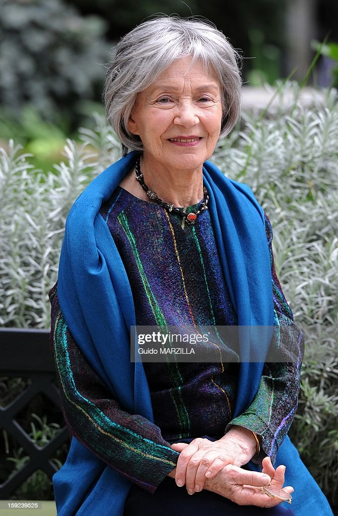 Photocall of the film 'Amour', Palme d'Or at the 2012 Cannes film festival, with french actress Emmanuelle Riva on October 09, 2012 in Rome, Italy.