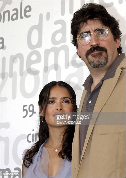 PhotoCall of the film Frida by Julie Taymor with Mexican actress Salma Hayek actress Valeria Golino and Alfred Molina Salma Hayek and Alfred Molina...