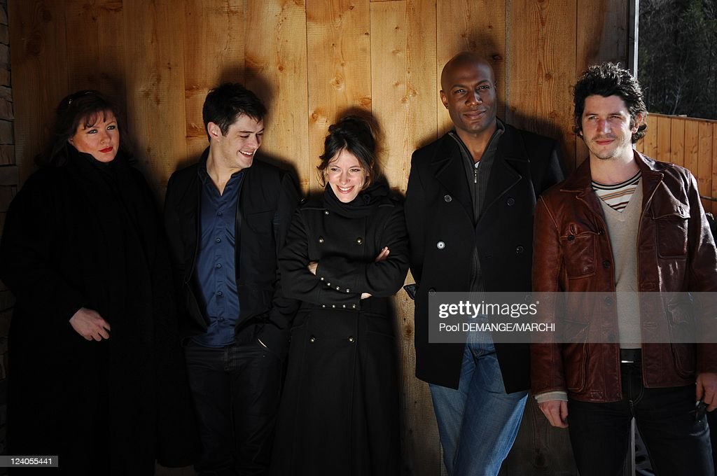 Photocall Short Films Jury At The 15Th Fantasy Film Festival In Gerardmer, France On January 26, 2008. : Photo d'actualité