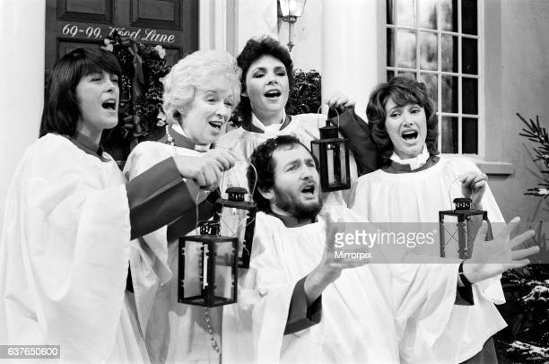 BBC Photocall to announce this years Christmas lineup and television schedule BBC Studios London 2nd December 1981 Pictured Isla St Clair June...
