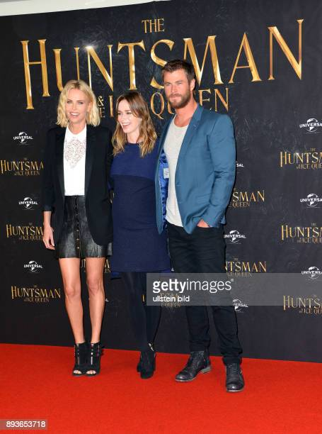 PhotocallnbspzunbspTHE HUNTSMAN THE ICE QUEEN in Anwesenheit vonnbspCharlize TheronEmile BluntChris Hemsworth