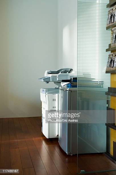 Photocopier in corner of office