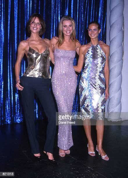 Eva Herzigova Rebecca Romijn Stamos and Heidi Klum at the Sports Illustrated Swimsuit Edition launch party at Supper Club in New York City February 9...